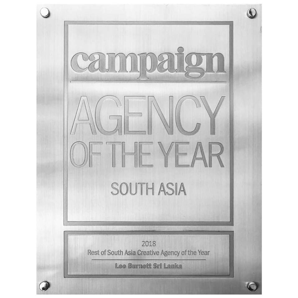 Leo Burnett Sri Lanka celebrates an unprecedented seven years of victory at Campaign AOY 2018